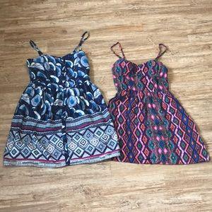 4/$20 Dresses: Two Cute Sun Dresses Size Large